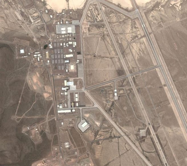 Area 51 Google Maps view