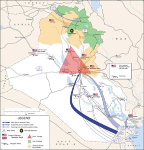Iraq War 2003 Map