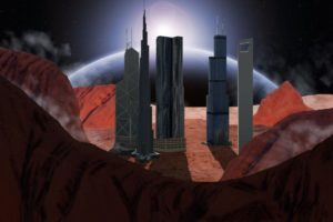 Martians City Illustration