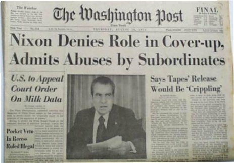 Nixon Denies Role Watergate