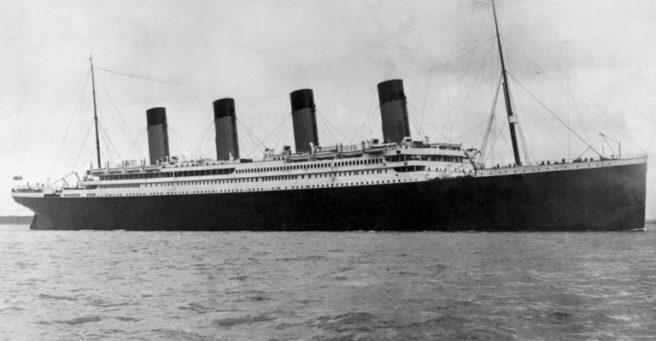 Titanic Black and White Image