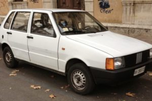 White Fiat Uno involved in the Paris Crash that killed Princess Diana